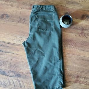 Christopher & Banks army green Capris Size 16